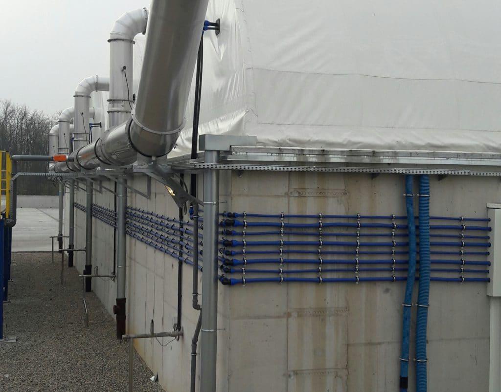 Sensor KSK-I02 mounted in ventilation system